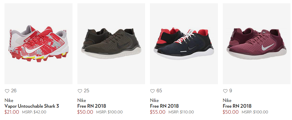 6pm Men S Nike Shoes 50 Off Or More