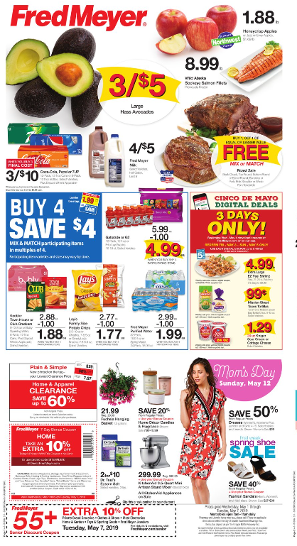 photograph about Oscar Meyer Printable Coupons known as Fred Meyer Weekly Coupon Discounts 5/1 - 5/7: Roast Sale