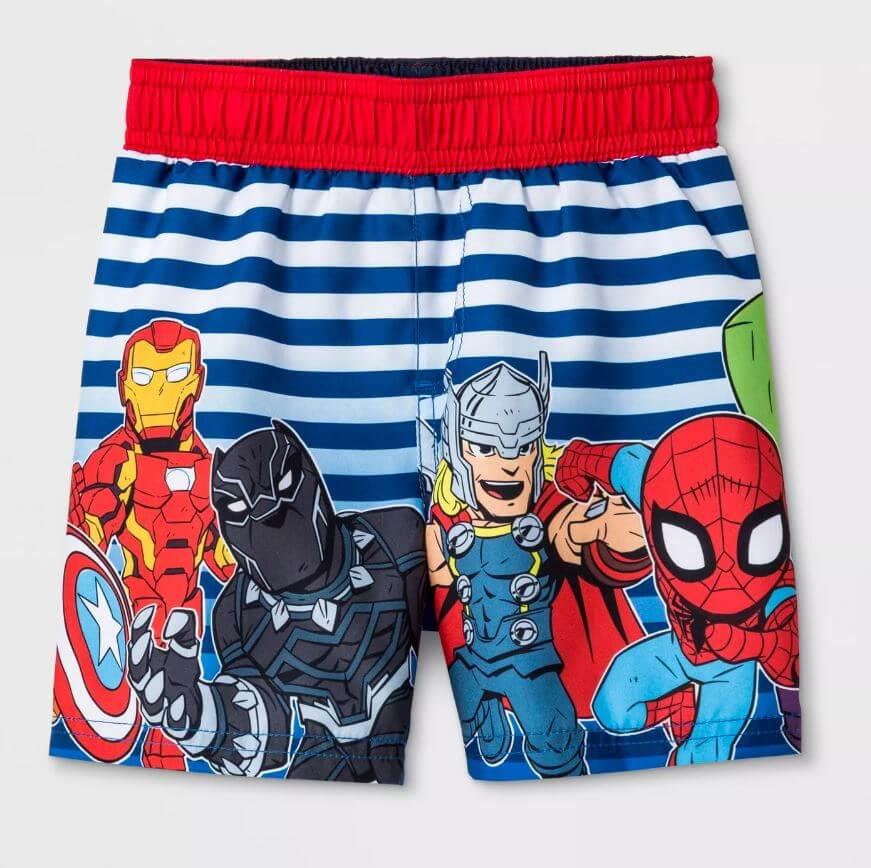 f357164482 Toddler Boys' Marvel Avengers Swim Trunks – Blue: $11.99. Use coupon code  SWIM40 Bottom line: $7.19!