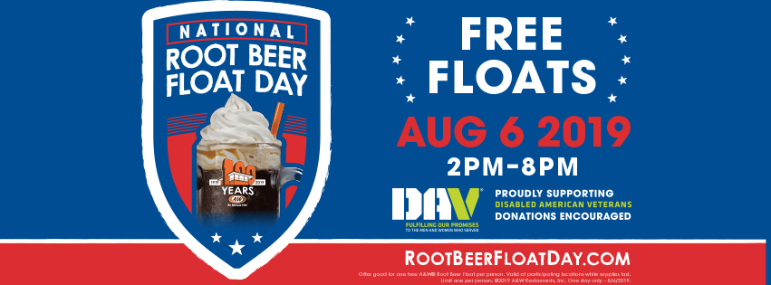 A&W Free Root Beer Float Day