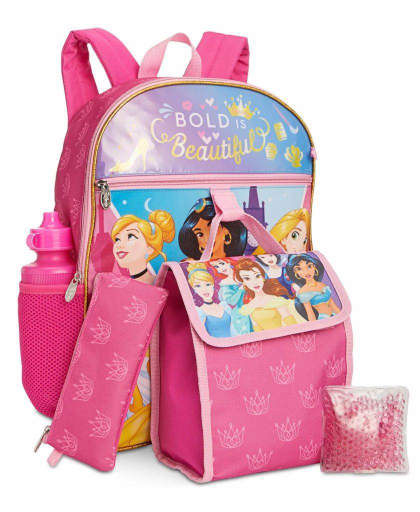 Disney Princesses kids backpack sets
