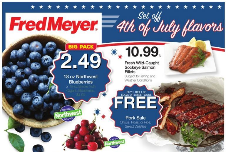Fred Meyer Weekly Coupon Deals 7/3 - 7/9: Savings Certificate, Milk