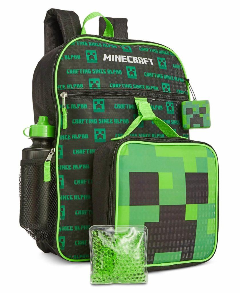 Minecraft kids backpack sets