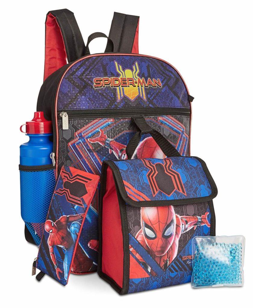 Spider-Man kids backpack sets