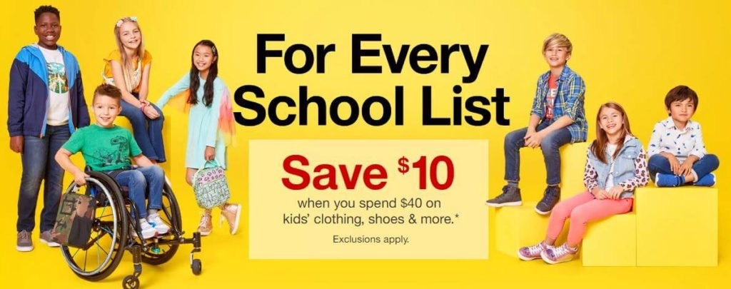 c3a2d527 Target: $5 or $10 Off Kids' Clothing, Shoes & Accessories - The ...