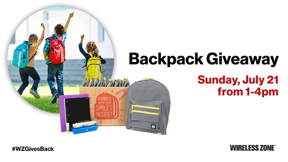FREE Backpack and School Supplies from Verizon TCC and