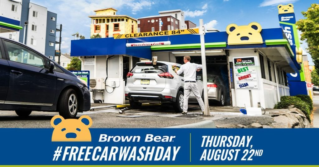 Brown Bear Free Car Wash Day 2019