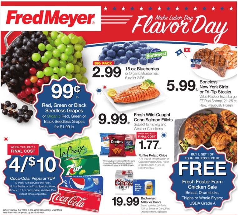 Fred Meyer coupon matchups 8/28