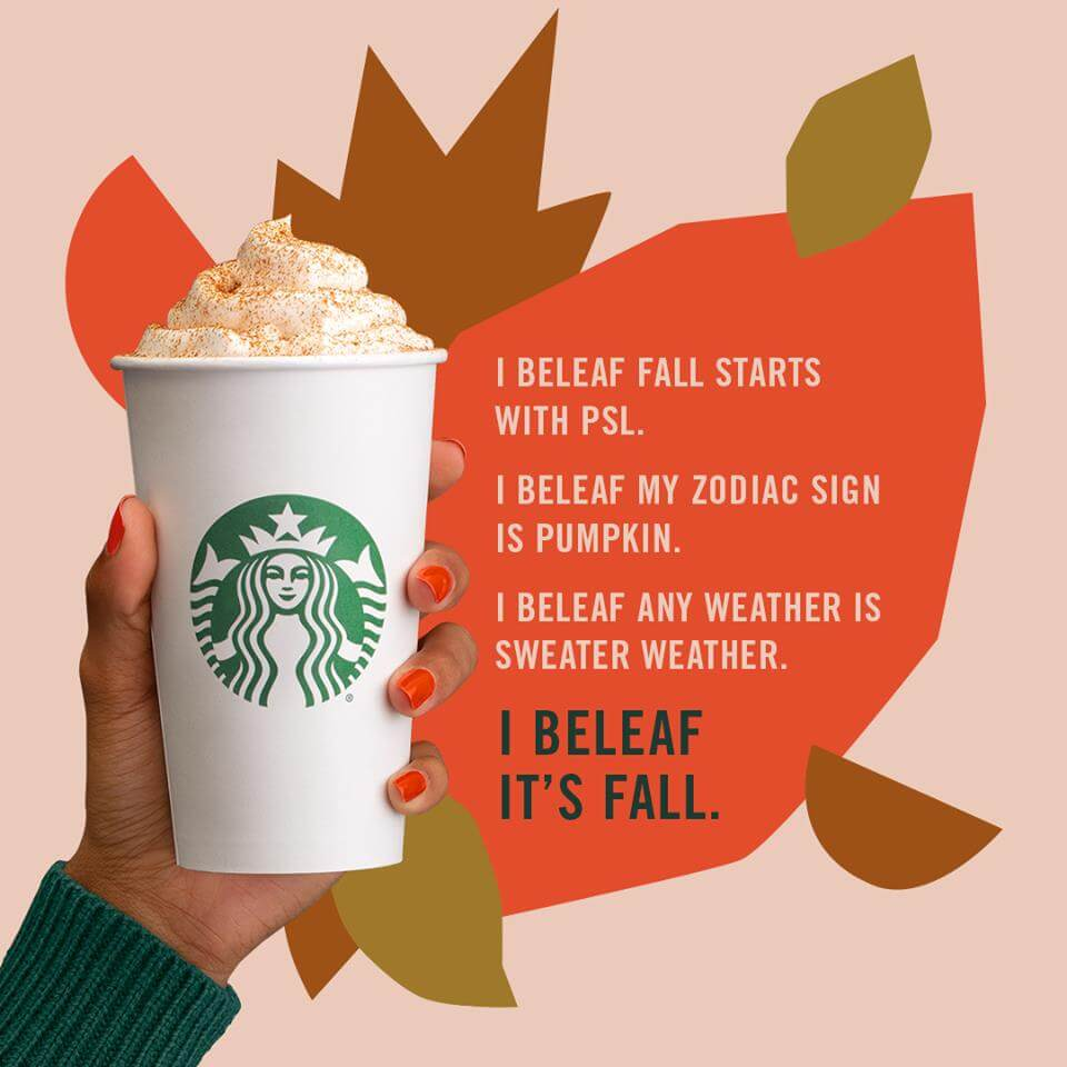Starbucks Pumpkin Spice Latte coupon