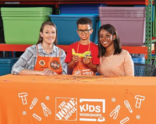 home depot free kids workshop fire plane
