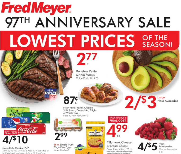 Fred Meyer Anniversary Sale 2019 weekly ad