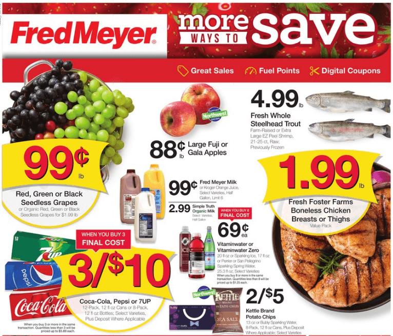 Fred Meyer coupon matchups 9/18