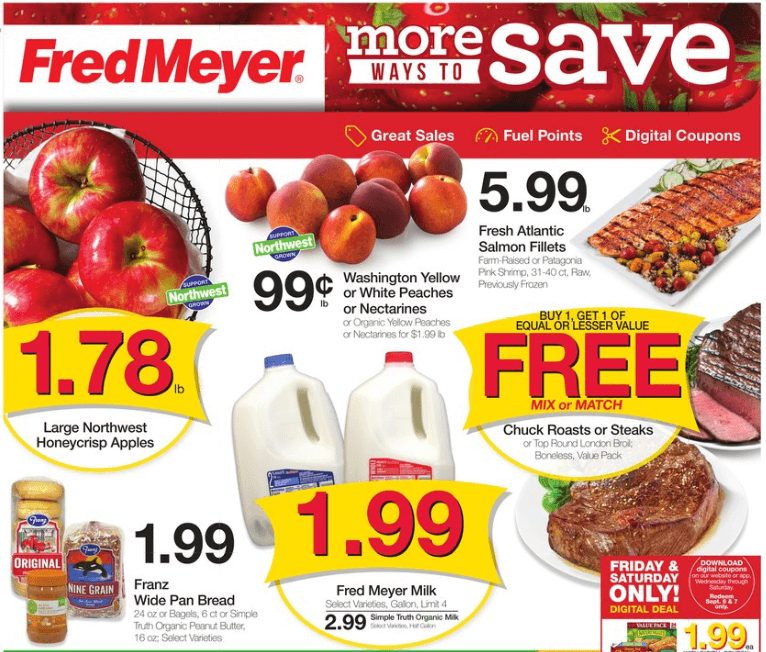 Fred Meyer coupon matchups 9/4