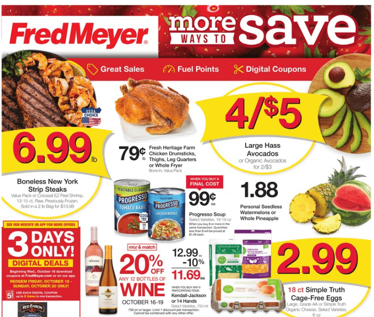 Fred Meyer coupon matchups 10/16