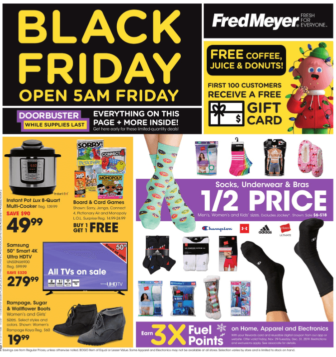 Fred Meyer Black Friday Ad 2019