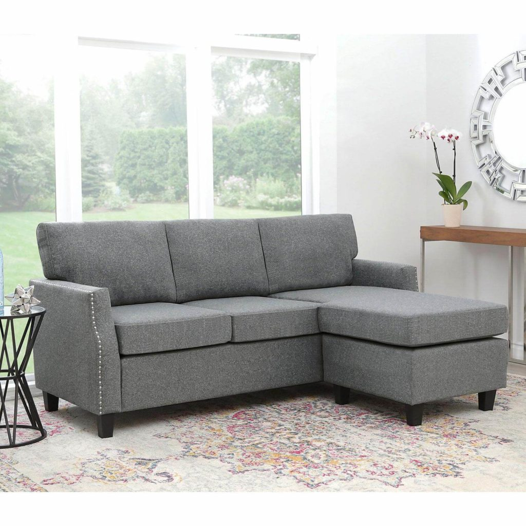 reversible fabric sectional