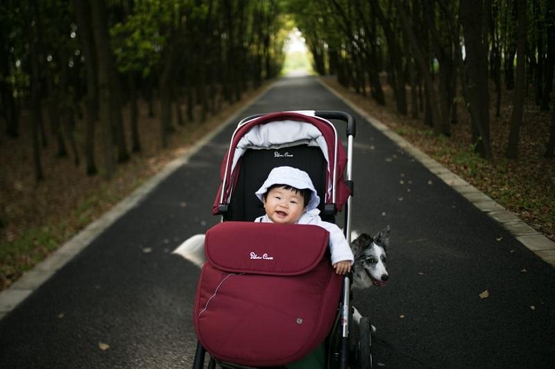 kid in stroller